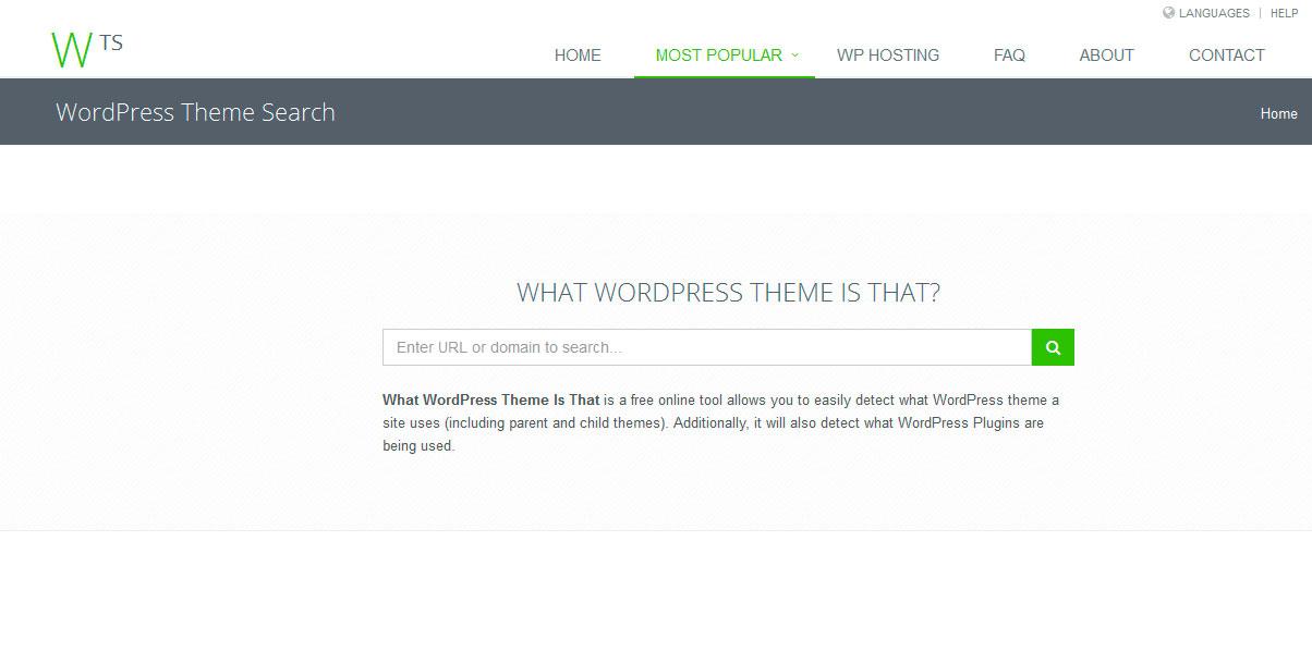 Saber que theme de wordpress utiliza una página web